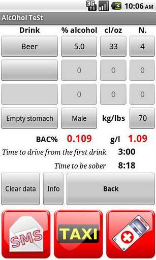 Teste de álcool - Imagem 2 do software