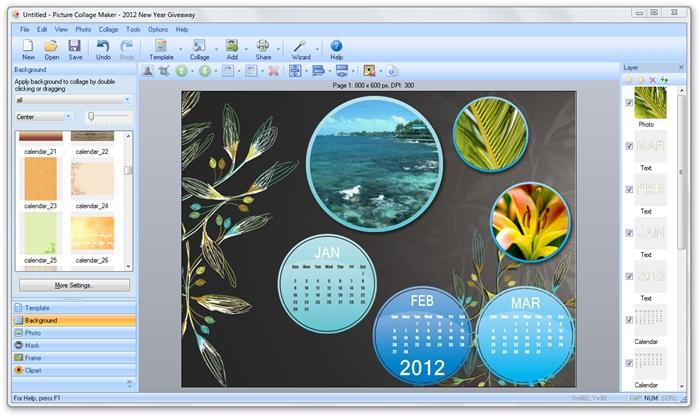 Picture Collage Maker 2012 - Imagem 1 do software