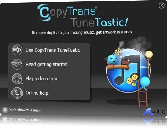 CopyTrans TuneTastic - Imagem 1 do software