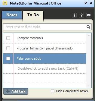 Montando uma lista de tarefas