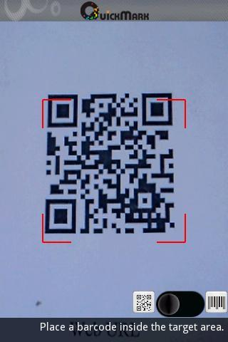 QuickMark Barcode Scanner - Imagem 1 do software