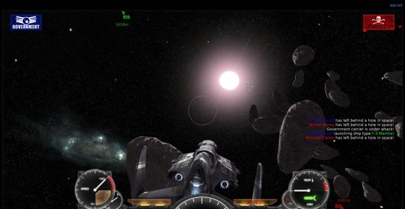 Explore o universo e combata os piratas