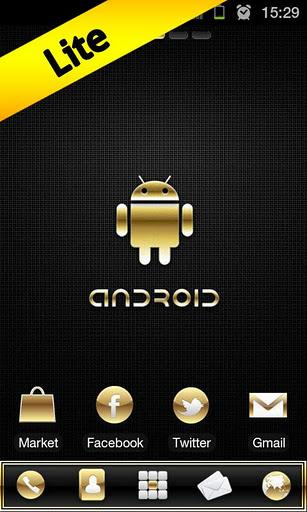 Gold Droid Lite GO Launcher EX - Imagem 1 do software