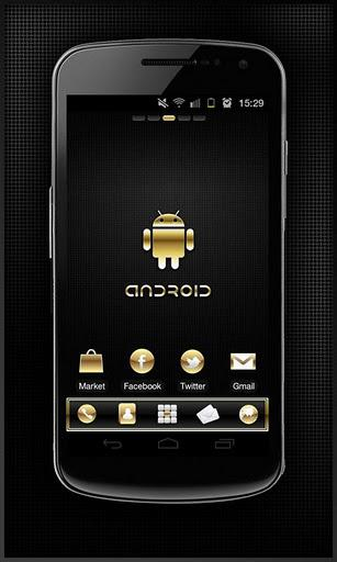 Gold Droid Lite GO Launcher EX - Imagem 2 do software