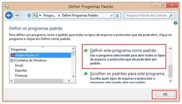 Definindo o programa para PDF
