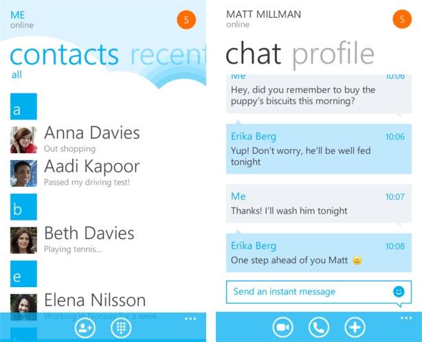 Skype para Windows Phone - Imagem 1 do software