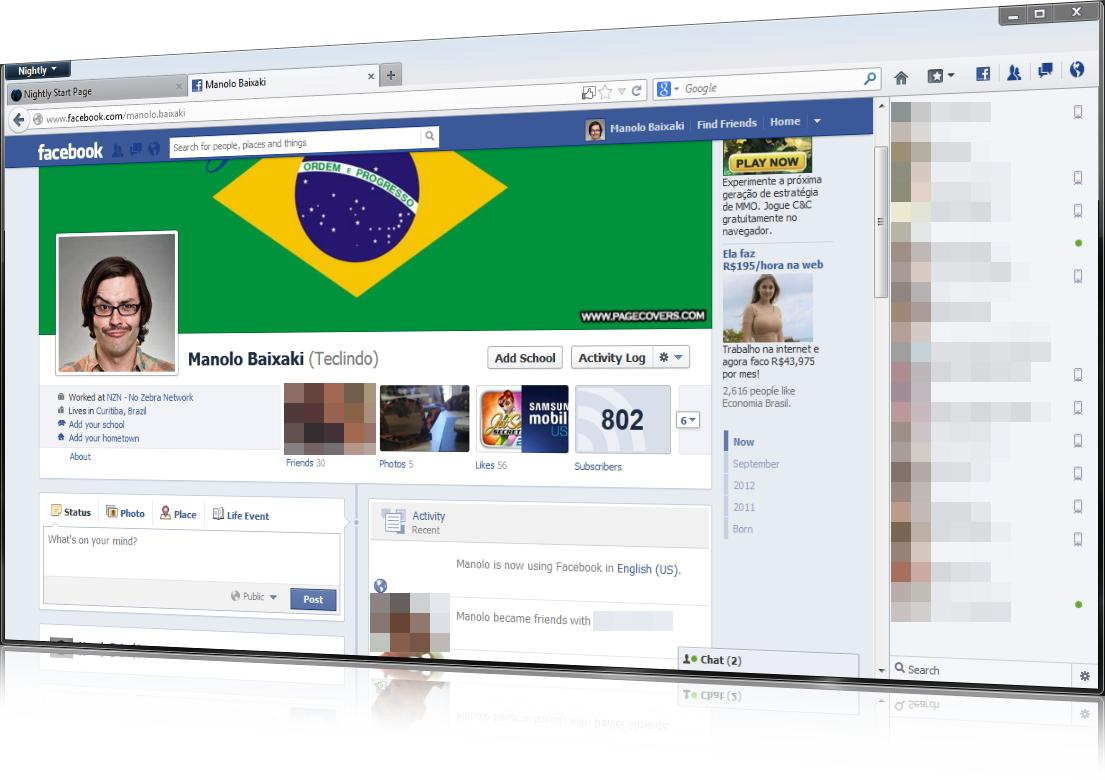 Facebook Messenger para Firefox - Imagem 1 do software