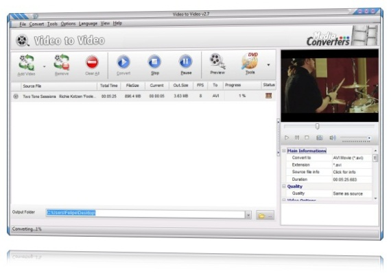 Video to Video Converter.