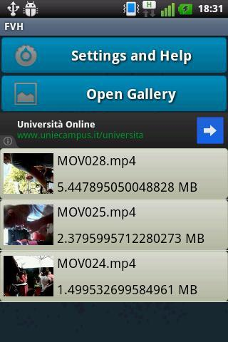 FVH - Free Video Hider - Imagem 1 do software