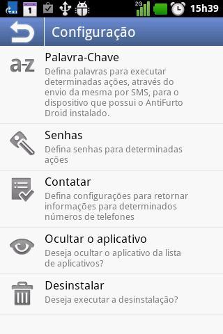 Anti Furto Droid SMS - Imagem 2 do software