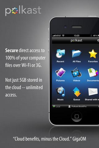 Polkast - 100% file access over Wi-Fi - Imagem 1 do software