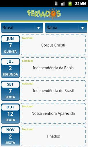 Feriados - Imagem 1 do software