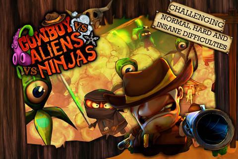 Cowboy vs. Ninjas vs. Aliens - Imagem 1 do software