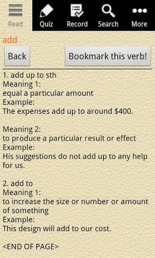 English Grammar – Phrasal Verb (Pago) - Imagem 2 do software