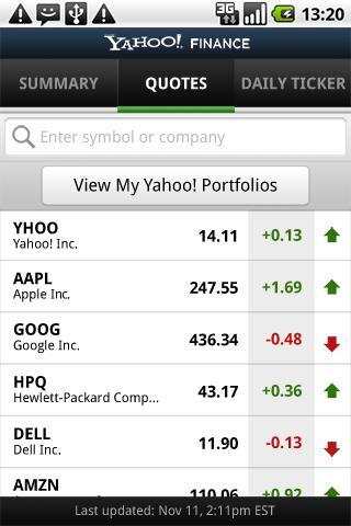 Yahoo! Finance - Imagem 1 do software