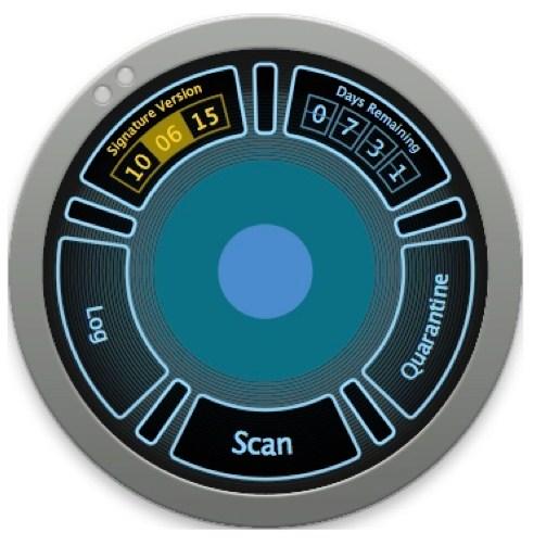 A interface exibe as opções em torno do círculo.