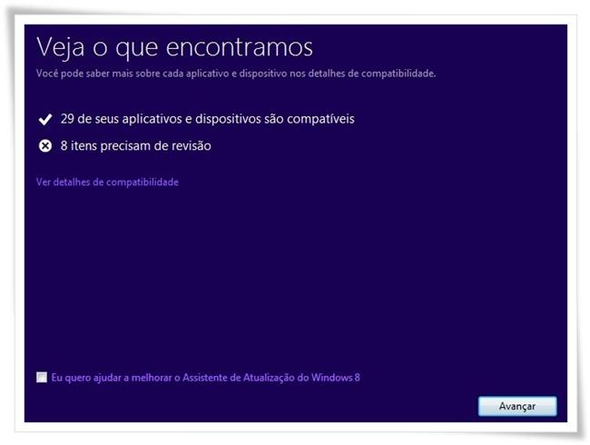 Assistente de Atualização do Windows 8.