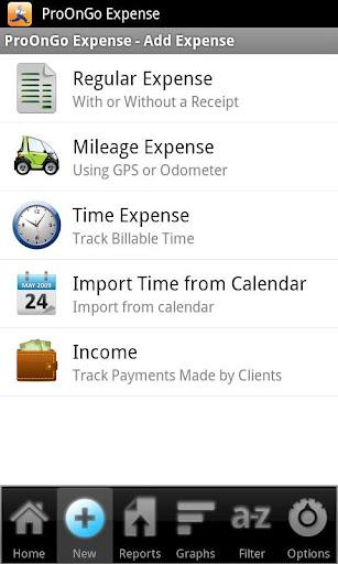 ProOnGo Expense Tracker - Imagem 1 do software