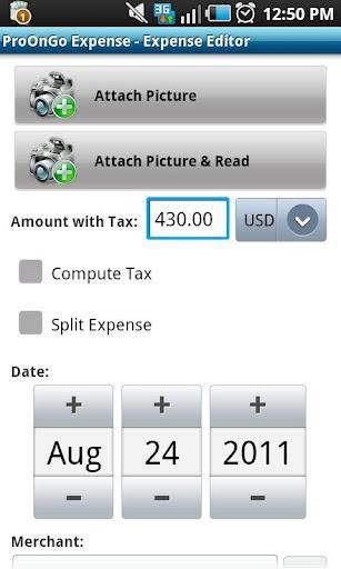 ProOnGo Expense Tracker - Imagem 3 do software