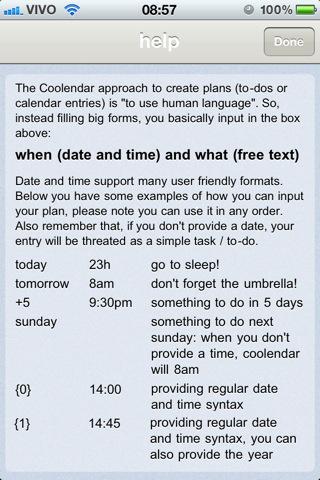 Coolendar - Imagem 2 do software