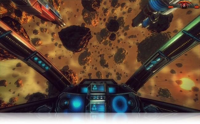 Você deve explorar os asteroides para sobreviver.