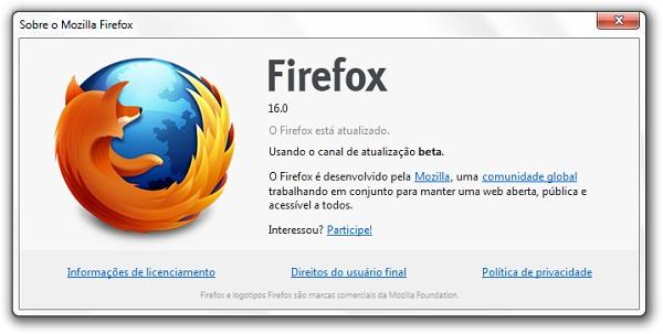Firefox 16 Beta 6