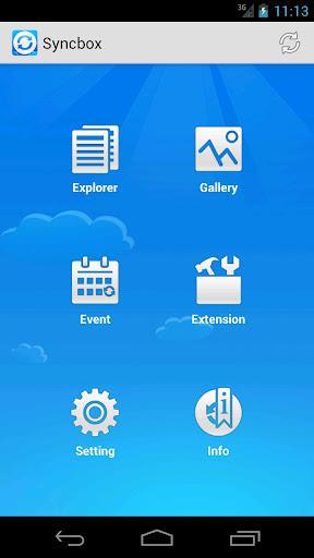 Syncbox - Imagem 1 do software