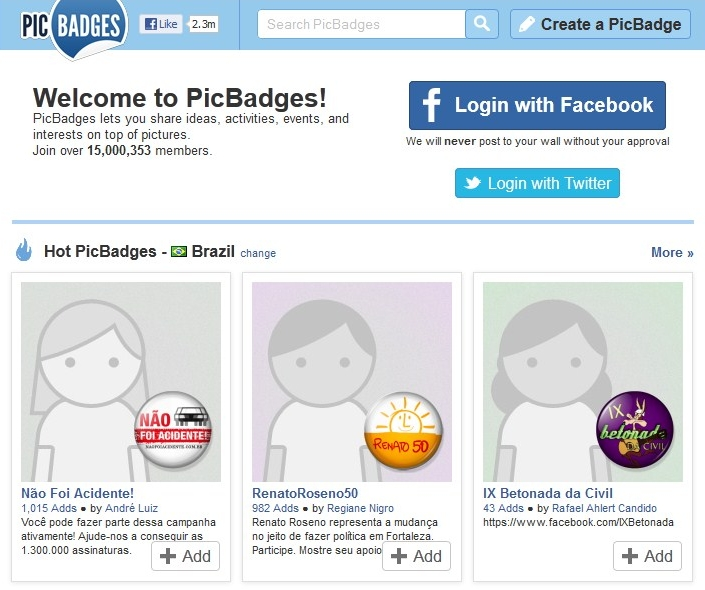 Picbadge online dating