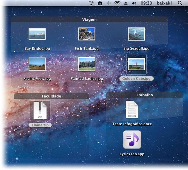 Grupos divisórios no Desktop