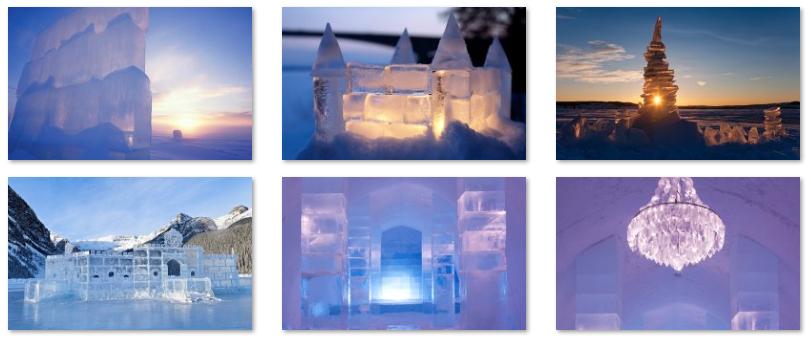 Gelos e castelos: aparência de conto de fadas
