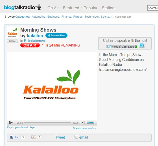Blog Talk Radio - Imagem 1 do software