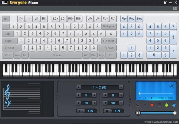 Toque piano no seu PC.