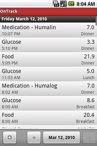 OnTrack Diabetes - Imagem 1 do software