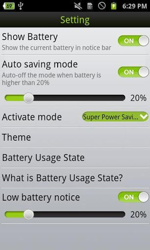 OneTouch Battery Saver - Imagem 2 do software