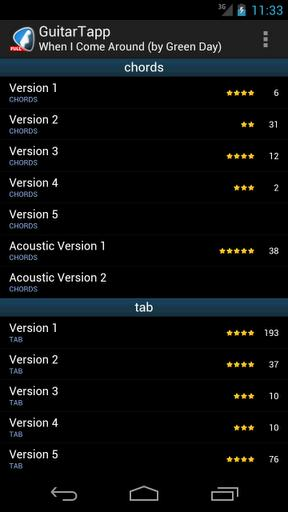 GuitarTapp Tabs & Chords - Imagem 1 do software