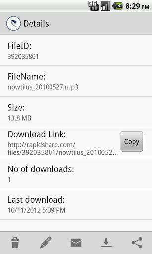 RapidShare Filemanager - Imagem 2 do software