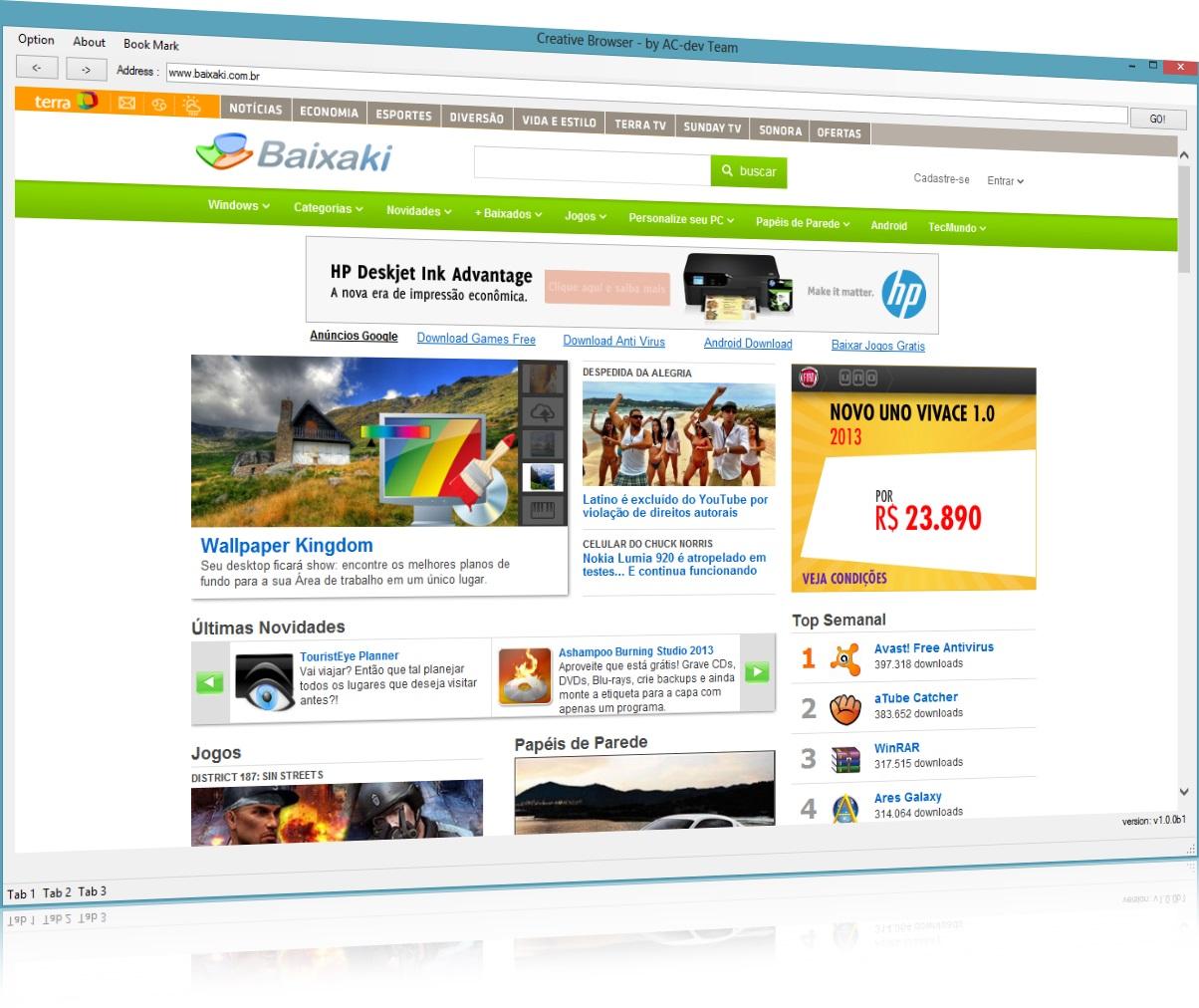Creative Browser - Imagem 1 do software