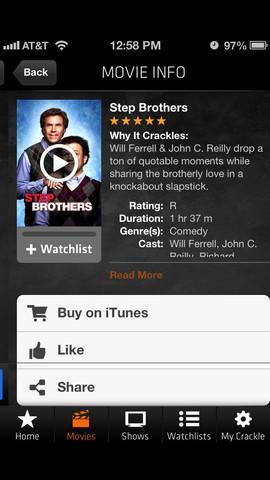 Crackle - Movies & TV - Imagem 2 do software