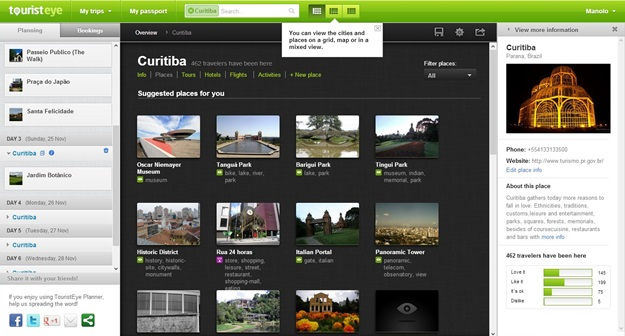 TouristEye Planner - Imagem 2 do software