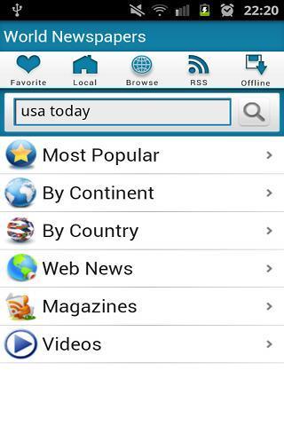 World Newspapers - Imagem 2 do software