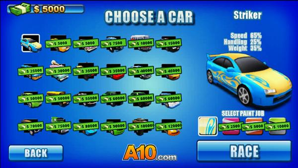 Dezenas de carros para escolher