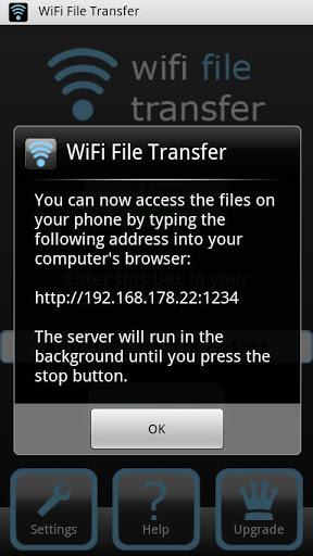 WiFi File Transfer - Imagem 2 do software