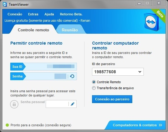 Team Viewer 8 Beta.