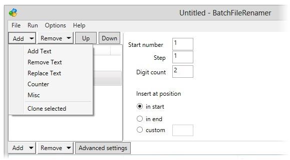 BatchFileRenamer - Imagem 2 do software