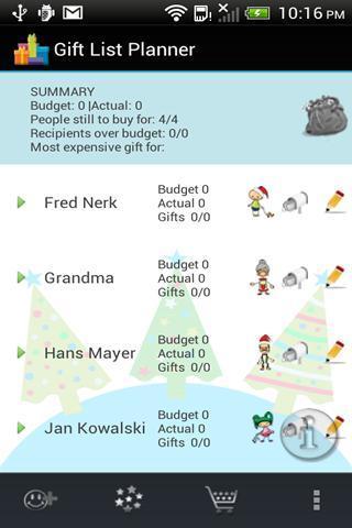 Christmas Gift List Planner - Imagem 1 do software
