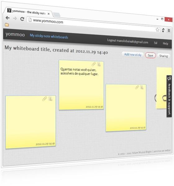 Yommoo Sticky Note para Google Chrome