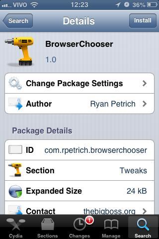 iPhone: como mudar o navegador-padrão [jailbreak] - TecMundo