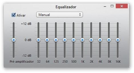 Equalizador do iTunes