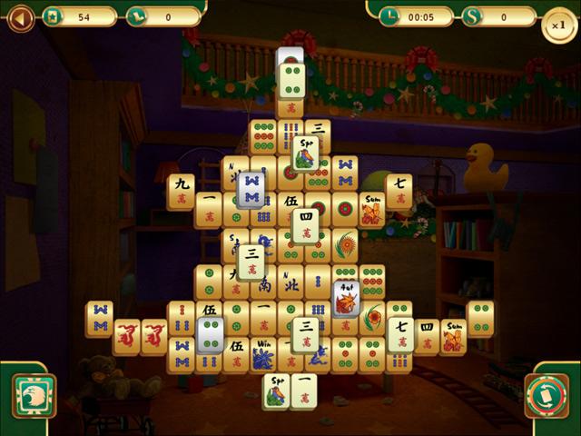Christmas Mahjong.