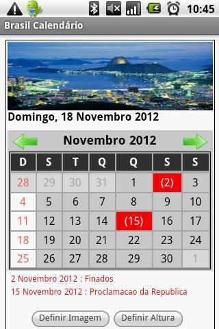 Brasil Calendário 2013 - Imagem 1 do software